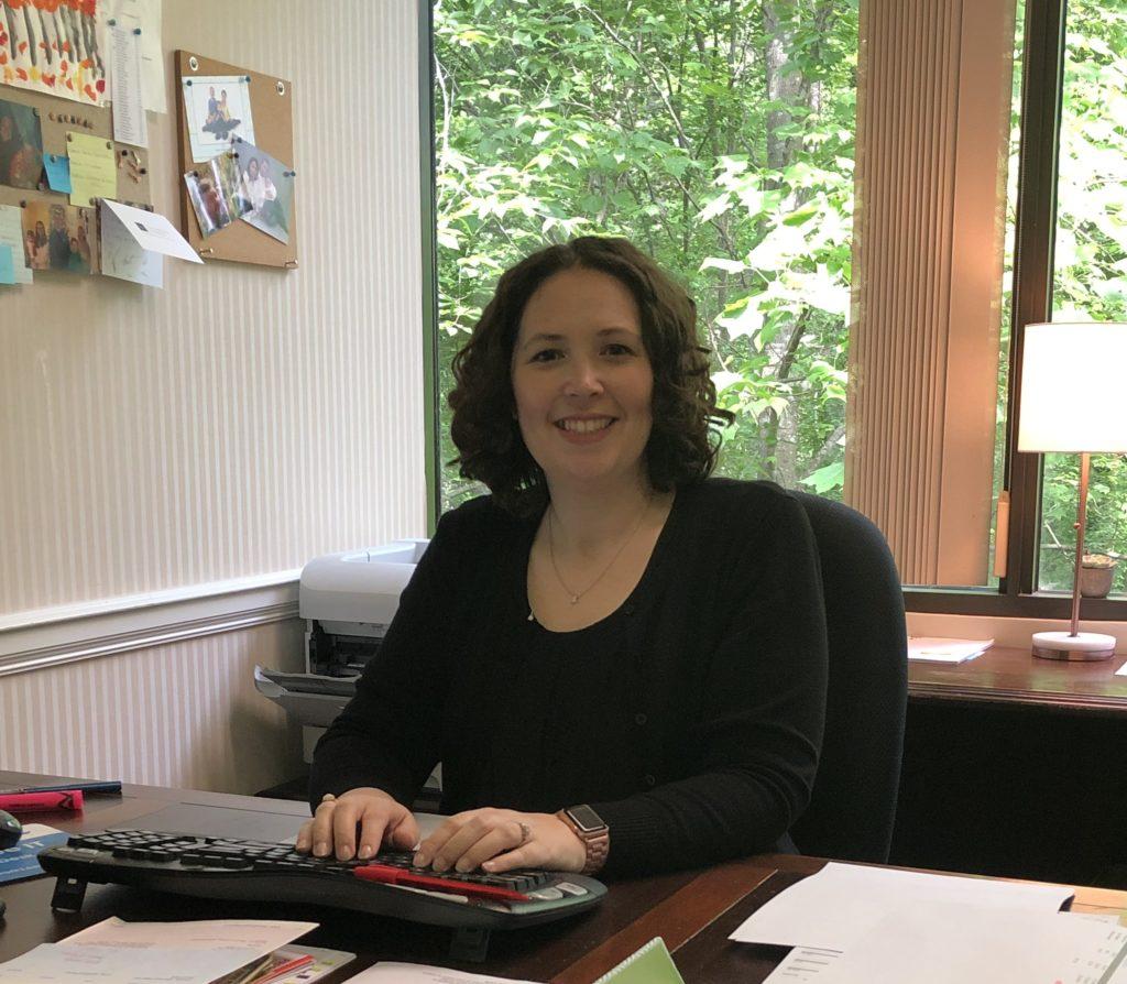 Team member spotlight Beth Winterhalter working at her desk