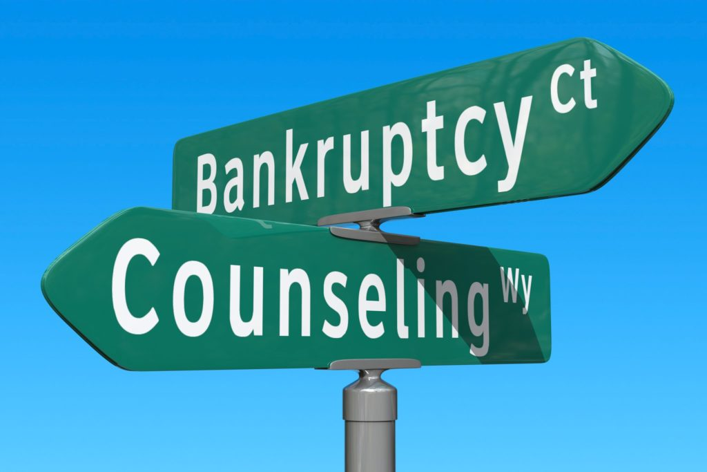 Crossroads between bankruptcy and counseling